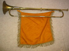 Very nice old German natural Eb (Es) trumpet with a leadpipe