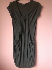 M&S BLACK & GREY STRIPPED DRESS/TOP 12