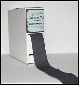 NORTEXX IRON ON FABRIC REPAIR MENDING TAPE 35MM - 9 COLOURS -SOLD BY THE METRE