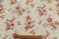 """Antique c1880 French Floral Cotton Home Fabric~L-23"""" X W-32"""""""