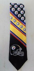 NFL Pittsburg Steelers Football Vtg 1996 100% Silk Men's Neck Tie