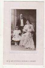 Mr & Mrs Kennerley Rumford & Children 1912 RP Postcard Music 689b
