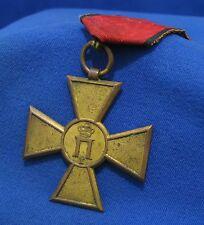 Serbia Kingdom 1913 Balkan Wars Comm. Cross Medal Order Original Ribbon