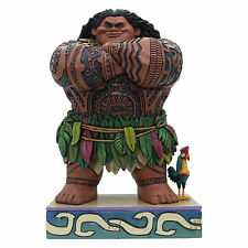 Jim Shore Disney Traditions Maui & HeiHei From Moana Daring Demigod 4058284 NEW