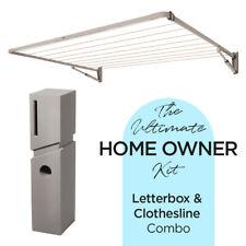 CLOTHESLINE   LETTERBOX COMBO - Pillar Mailbox + 11 Line Clothesline