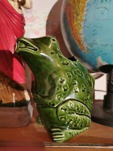 Pichet ancien L'heritier Guyot forme grenouille céramique
