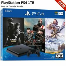 PS4 PlayStation 4 Slim ONLY ON BUNDLE (1TB) Console w/ Controller (US Warranty)