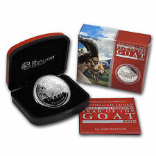 2015 1 oz Proof Silver Australian Lunar Year of the Goat-Box and Certificate3338