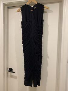 Willow Black Drape Cocktail Dress Size 8