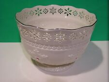 Lenox Jeweled Snowflake Bowl - New- Never Used - Made in U.S.A. Sticker attached