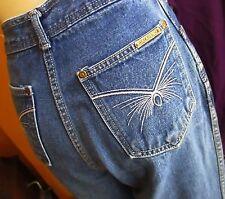 sz 25x26 Vtg 80s Womens HIGH WAIST JALAPENO Denim DISCO POCKET Jeans