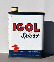 Ancien bidon huile IGOL Sport - Déco Vintage garage