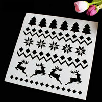 2X Christmas Tree Cake Stencil Mold Baking Tool Merry Christmas Cookie Decor  Nw