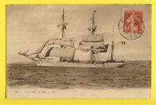 cpa Cachet LE HAVRE PORT NAVIRE Bateau Boat VOILIERS SAILING 3 Mâts en Rade