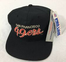 Vintage Black San Francisco 49ers Sports Specialties Hat Cap Snapback NWT