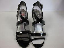 Nine West Sheik Black Patent Strappy Sandal - Size10.5