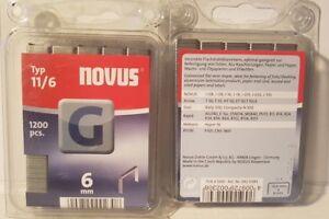 Tacker  Klammern  Novus  11/6mm  1200 Stück   042-0384     R11 / J-031/ J-08
