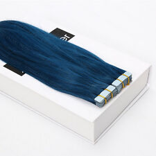 Tape in Remy Human Hair Extensions 16 inches 40cm Seamless Weave Grade AAAA Gray