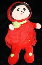 "Strawberry Doll 17"" Fruit Backpack Plush Stuffed Soft Purse Girls Tote Bag Zips"