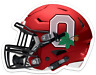 O.S.U. Ohio State University Buckeyes Football Helmet Drk Scarlet w/ logo MAGNET