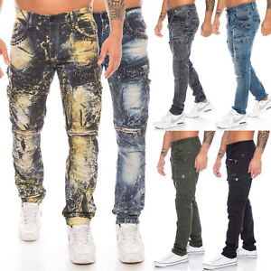 Cipo & Baxx Herren Stretch Cargo Jeans Regular Slim Fit Hose Jeanshose Pants