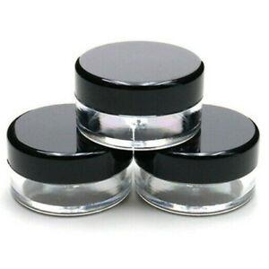 10ml 10g Plastic Sample Pots/Jars Glitter/Make Up/Cosmetic/Nail Art/Cream jfb