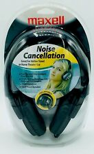 MAXELL 'NOISE CANCELLATION' COLLAPSIBLE AIRLINE TRAVEL & HOME THEATER HEADPHONES