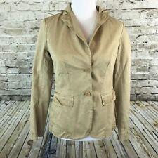 J Crew Chino Weathered Classic Twill Cotton Beige Blazer Jacket Womens Sz 4