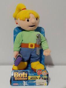 """2001 Bob The Builder Talking WENDY Plush Hasbro Playskool 15"""" Painting"""