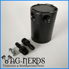 Alu Öl Catch tank Auffangbehälter 2 Anschlüsse mit Filter oil catch can PCV