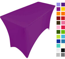 GRAPE PURPLE  spandex stretch cover tablecloth for 4ft foot table 120X75X75