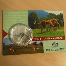 Australia 1$ Kangaroo RAM 1998 silver 1 oz 99.9% (Blister)