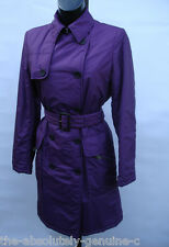 AQUASCUTUM WHISTLER Rain Trench Coat PADDED + FREE HAT 12 Purple BNWT rrp £500+
