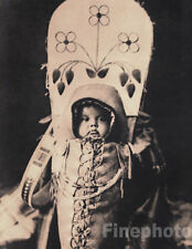 1900/72 Vintage NATIVE AMERICAN INDIAN Nez Perce BABY Photo Art By EDWARD CURTIS