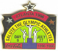 1996 ATLANTA OLYMPIC COCA COLA DAY PIN 9 FOR BOTTLE PUZZLE SET OLYMPIC ATHLETES