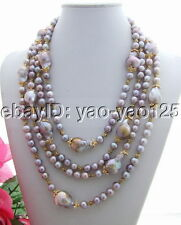 N130725 4Strds 25mm Bead-Nucleated Pearl Necklace