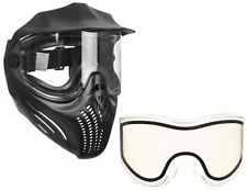 Empire Helix paintball Mask/Goggles - Black + Clear Thermal replacement lens