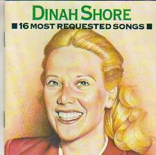 vocal jazz cd DINAH SHORE 16 MOST REQUESTED SONGS