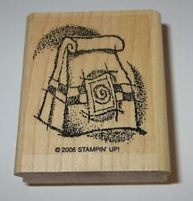 Coffee Beans Rubber Stamp Bag Espresso Stampin' Up! New Wood Mounted Retired