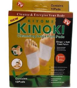 10 Kinoki Gold Ginger and Salt Formula Premium Detox Foot Pads Organic Herbal