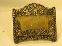 vintage business card holder stand ornate cherub angel detail *Please Note
