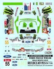 Colorado Decals 1/43 FORD FOCUS WRC08 RALLY MEXICO 2010