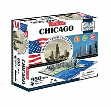 CHICAGO 3D History Time-Puzzle = 950+pcs. 4D Cityscape OVP+in Folie