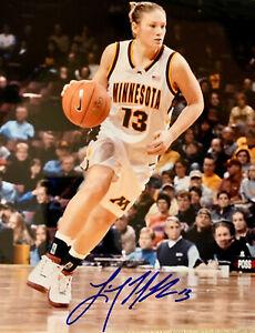 LINDSAY WHALEN signed University of Minnesota Basketball 8x10 photo #2  W/COA