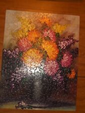 """WHITMAN JIGSAW PUZZLE 304 PIECES 14"""" X 18"""" SERIES 169 FLOWERS STILL LIFE"""