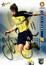 ✺Signed✺ 2007 2008 CENTRAL COAST MARINERS A-League Card DAMIEN BROWN