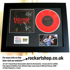More details for bullet for my valentine signed matthew tuck vinyl scream aim fire autographed