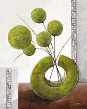 KARSTEN Kirchner: Arrangement EN GREEN I CUADRO SOBRE LIENZO 24x30 Moderno Verde