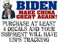 Joe Biden Make China Great Again Middle Finger Anti Joe Biden BUMPER STICKER