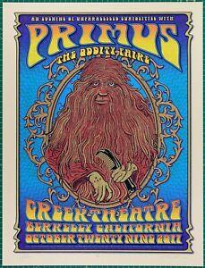 Primus @ Greek Theatre Berkeley Oddity Faire P30 by Dave Hunter & Zoltron